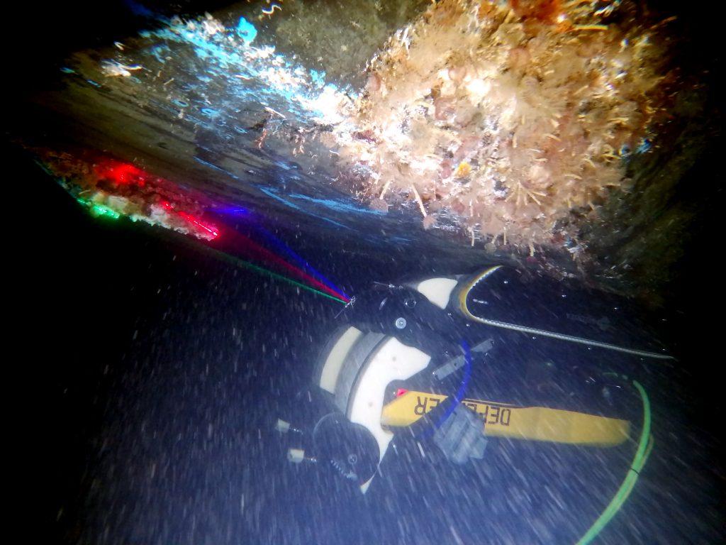 Autonomous crawler with Seavision Underwater Laser Scanner